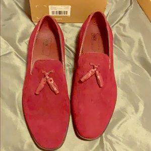 ASOS Red Loafers size 10 Wide